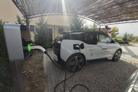 Premium electric vehicle charging stations