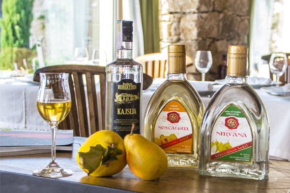 A new special selection of rakia in restaurant aEstivum